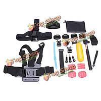 23в1 комплект аксессуаров для GoPro Hero 3 4 3 Plus доставка sj4000 спорт камеры