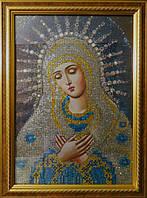 """Картина для рисования камнями Diamond painting Алмазная вышивка икона """"Богородица серебряная"""""""