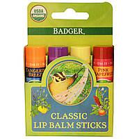 Набор классических бальзамов для губ Badger Classic Lip Balm Sticks
