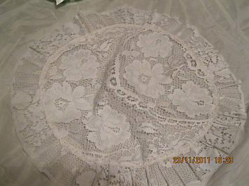 Декор интерьер нарядная  САЛФЕТКА.на стол.белая!ажурная скатерка