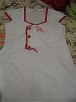 ОТЛИЧНОЕ платье игровое костюм белое с красным шик
