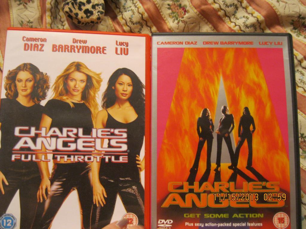 Диск Charlie's Angels фильм кино видео на английском языке набор= 8дисков ангелы ЧАРЛИ