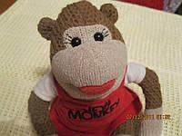 Брелок обезьяна игрушка на присосках 28см