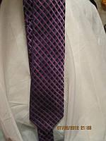 Галстук мужской узкий фиолетовый как новый