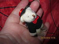 Мишка в шляпе БРЕЛОК ключи сувенир игрушка МЯГКАЯ фигурка привезли из БОЛГАРИИ