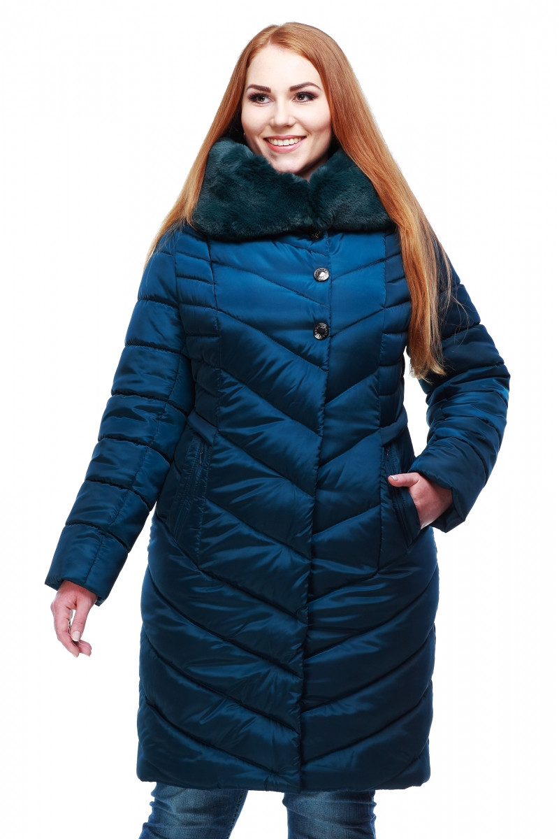 """Зимняя куртка стеганная с капюшоном Мария больших размеров - Оптово-розничный магазин одежды """"Perfect Style"""" - ПЕРФЕКТ СТАЙЛ в Хмельницком"""