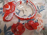 Обруч  и подвязка набор игровой новый красный белый