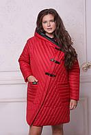 Стеганое женское пальто мод.558 (р.50-58)
