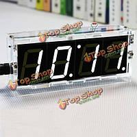 DIY 4 цифры светодиодные электронные часы с термометром набор для сборки Light Control Версия