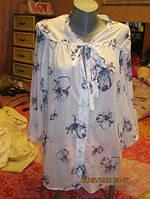 Блуза блузка как НОВАЯ СТИЛЬНО F&F белая с серым 54-56 р