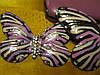 Брошь бабочка аксессуар брошка большая пришивная, фото 3