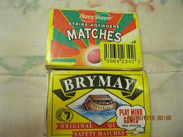 Сірниковий коробок набір=2 КОРОБКИ сувеир сірники з БРИТАНІЇ 2вида