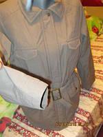 Серая куртка пояс 7карманов 16 50 L женская в хорошем состоянии