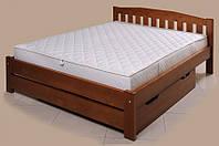 """Кровать """"Альфа-4"""" из массива ольхи (Темп)"""