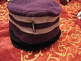 Шапка фирменная добротная сиреневая шляпка флис, фото 2