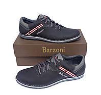 Кожаные мужские спортивные туфли Barzoni 20 черные