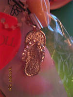 Брелок подвеска на мобильный тапок шлепки камни, фото 1