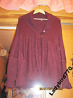Женская кофта кардиган длинный 48 14 М б у TOPSHOP вишневая
