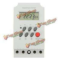 AC 220В 25A на DIN-рейку цифровой программируемый электронный таймер переключатель