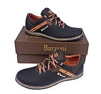 Кожаные мужские спортивные туфли Barzoni 20 коричневые