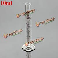 10мл стеклянный градуированный мерный цилиндр пробкой с круглым основанием и носиком