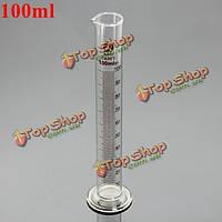 100мл стеклянный градуированный мерный цилиндр пробкой с круглым основанием и носиком