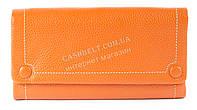 Удобный  кожаный женский кошелек с качественной мягкой кожи  art. 3208A оранжевого цвета