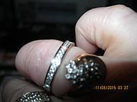 Кольцо серебро 925 проба 19.5 размер с камнями фирмы АКВАМАРИН новое с биркой