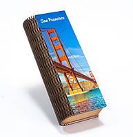 """Шкатулка-пенал """"Небо Сан-Франциско"""""""