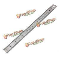 30см 12-дюймов нержавеющей стали двусторонняя металлическая линейка измерительного инструмента