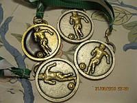 Медаль металлическая футбол из Британии сувенир  жетон награда