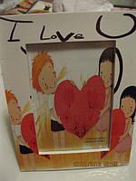 Фоторамка декор сердце ЛЮБОВЬ день Валентина сувенир рамка