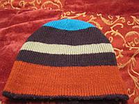Шапка двухсторонняя шапочка детская полосатая