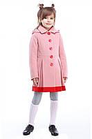 Очаровательное детское пальто модного кроя для девочек в ярких расцветках