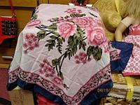 Платок шарфик как новый стильный цветы