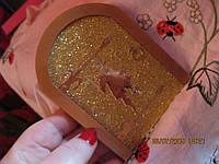 Декор handmade in ENGLAND СУВЕНИР НА ДВЕРЬ золотая дверь калитка из британии