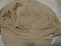 Фуражка кепка шапка вильвет 7-10ЛЕТ беж