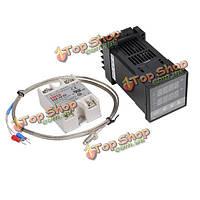 Рекс-с100-110-240В 1300degree цифровой ПИД-регулятор температуры комплект