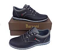 Кожаные мужские спортивные туфли Barzoni 15 черные