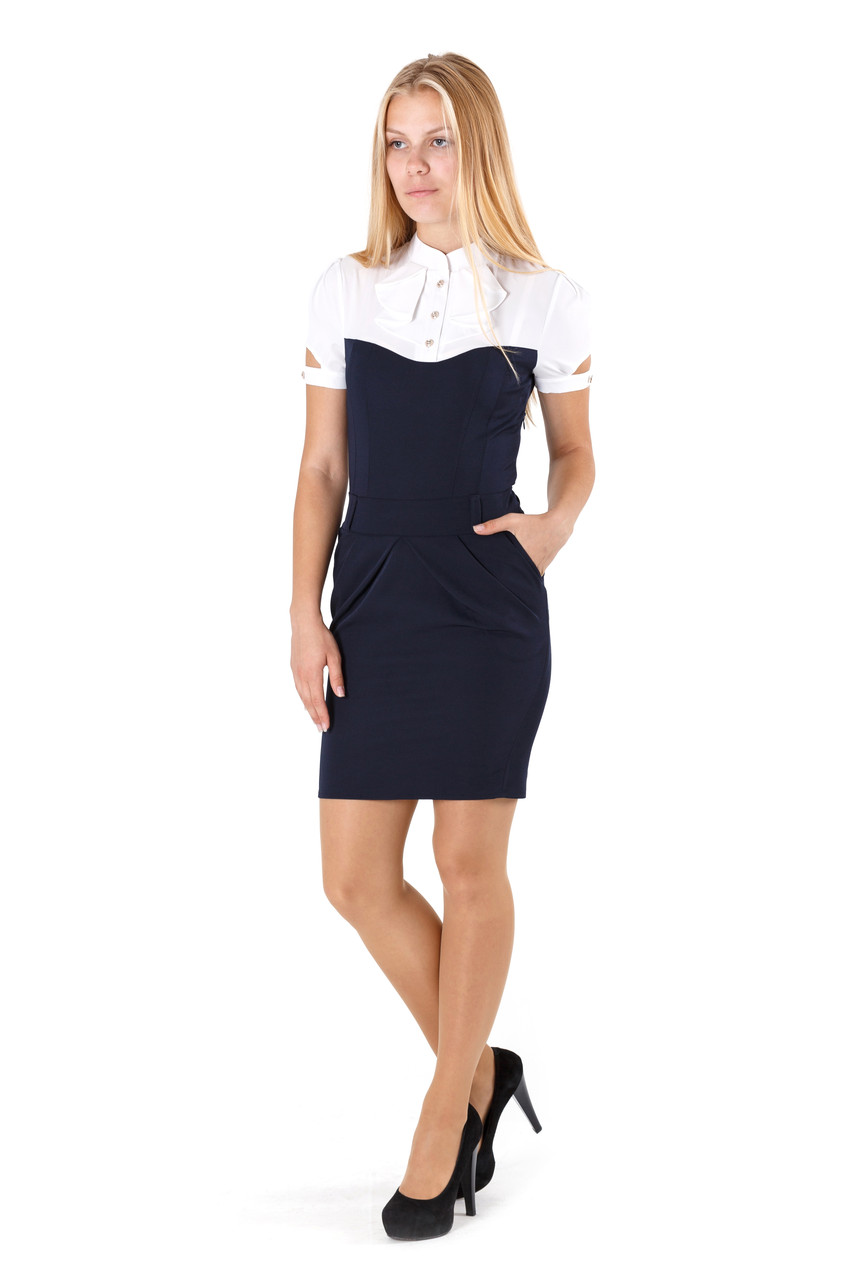 Платье офисное №1517