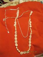 Жемчуг речной ожерелье колье цепочка бусы нежность Ив роше