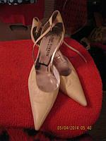 Босоножки белые кожа туфли  LINO TORRESI италия