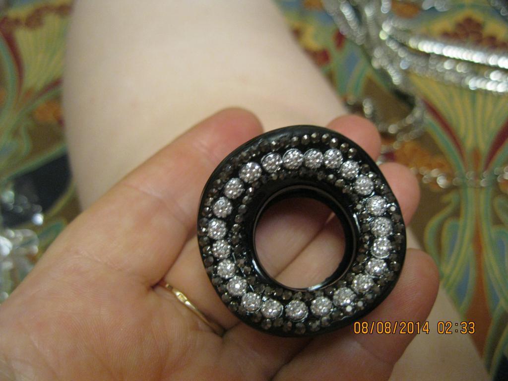 Краб крабик зажим заколка черная с серебром размер 4 см