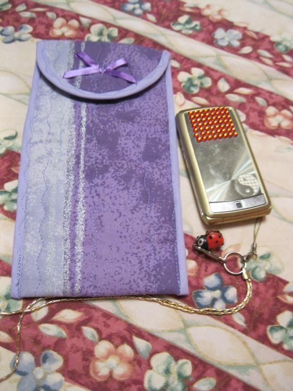 Пенал футляр косметичка кошелек чехол на липучке сиреневый цвет хлопок можно под очки
