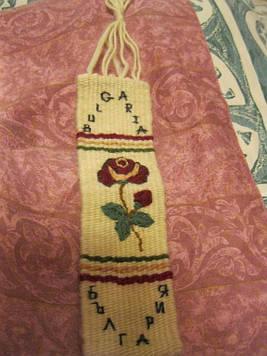 Сувенір на стіну БОЛГАРІЯ BULGARIA HANDMADE троянда підвіска невеликий декор