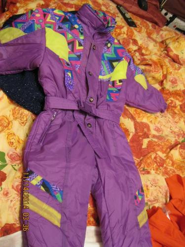Комбинезон куртка детский демисезонный  5л 110 см рост италия фиолетовый