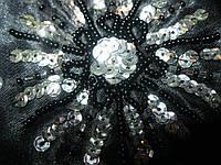 Косметичка клатч кольцо черная нарядная