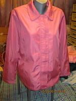 Ветровка плащ женская тонкая демисезонная КУРТКА ЛЕГКАЯ розовая шик