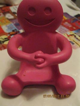 Підставка фігурка статуетка декор іграшка сувенір для мобільного чоловічок рожевий США ВАЖКА чоловічок