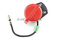 Выключатель зажигания для мотоблока, мотопомпы   (один провод)